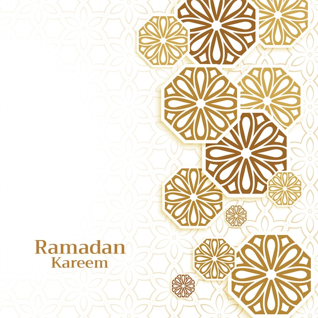 Islamic decoration background for ramadan kareem season Free Vector
