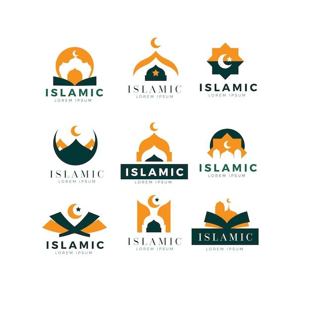 Коллекция логотипов исламского дизайна Premium векторы
