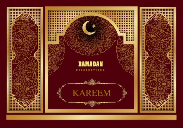 Islamic design mosque door for greeting background Ramadan Kareem Premium Vector  sc 1 st  Freepik & Islamic design mosque door for greeting background Ramadan Kareem ...
