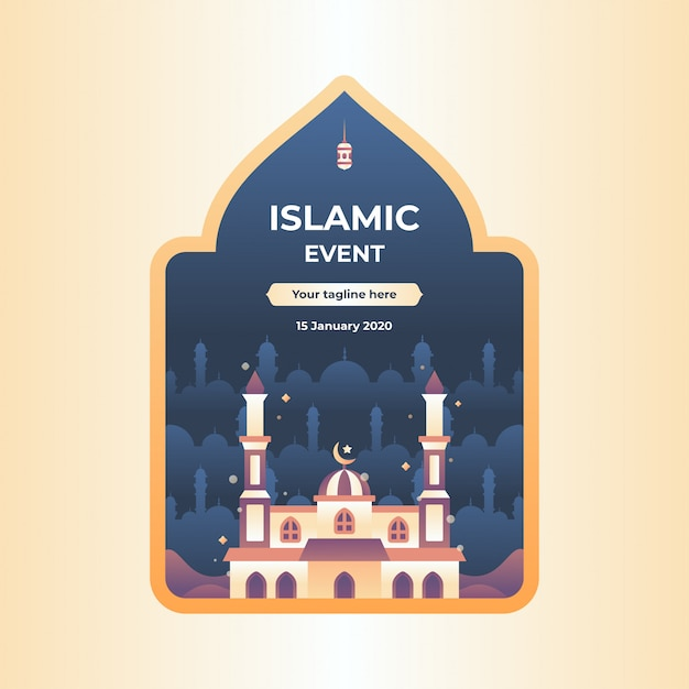 Islamic event illustration Premium Vector