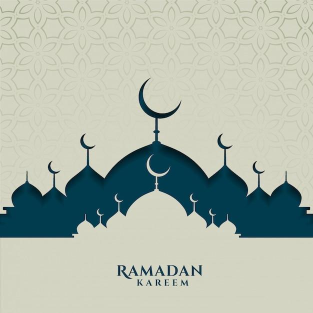 Карта исламского фестиваля для сезона рамадан карим Бесплатные векторы