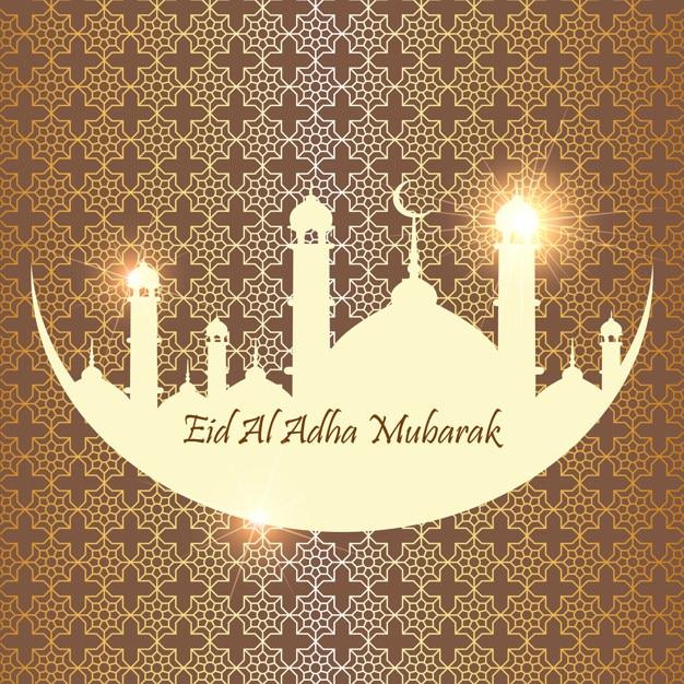 Islamic festival of sacrifice eid al adha mubarak greeting card islamic festival of sacrifice eid al adha mubarak greeting card premium vector m4hsunfo