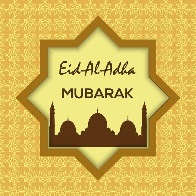 Islamic festival of sacrifice eid al adha mubarak greeting card islamic festival of sacrifice eid al adha mubarak greeting card premium vector m4hsunfo