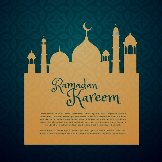 islamic festival ramadan greeting card vector