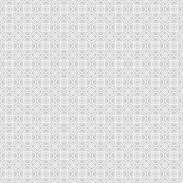 Исламская геометрическая круглая орнамент бесшовные Premium векторы