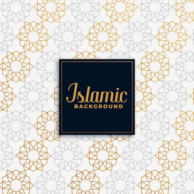 Islamic golden pattern  background Free Vector