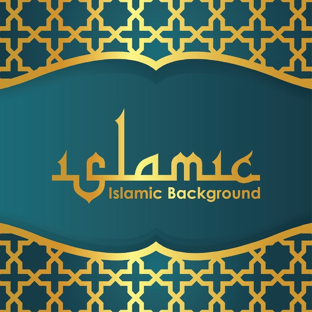 Islamic greeting banner background with arabic pattern vector islamic greeting banner background with arabic pattern premium vector m4hsunfo