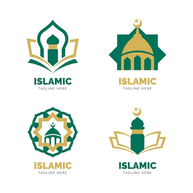 イスラムのロゴコレクションのコンセプト Premiumベクター