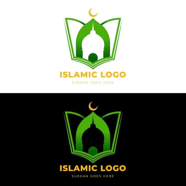 Исламская концепция логотипа в двух цветах Premium векторы