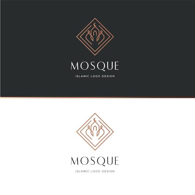 Исламская концепция логотипа Premium векторы