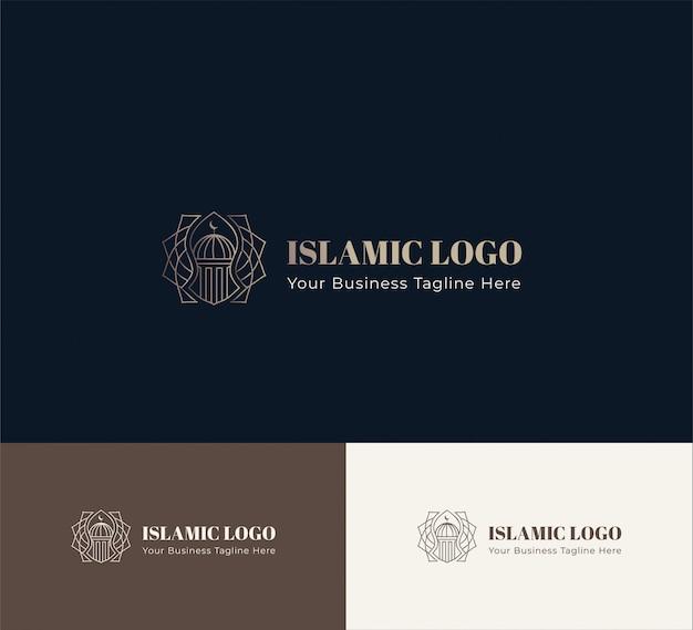 Исламский логотип геометрический Premium векторы