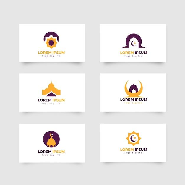 Исламский логотип в двух цветах Premium векторы