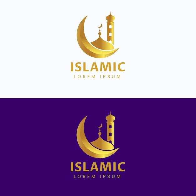 2色のイスラムロゴ 無料ベクター