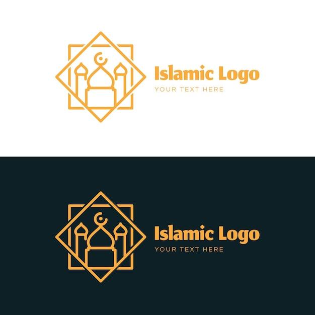 Исламский логотип в двух цветах Бесплатные векторы