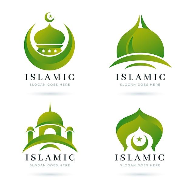 Islamic logo template collection Free Vector