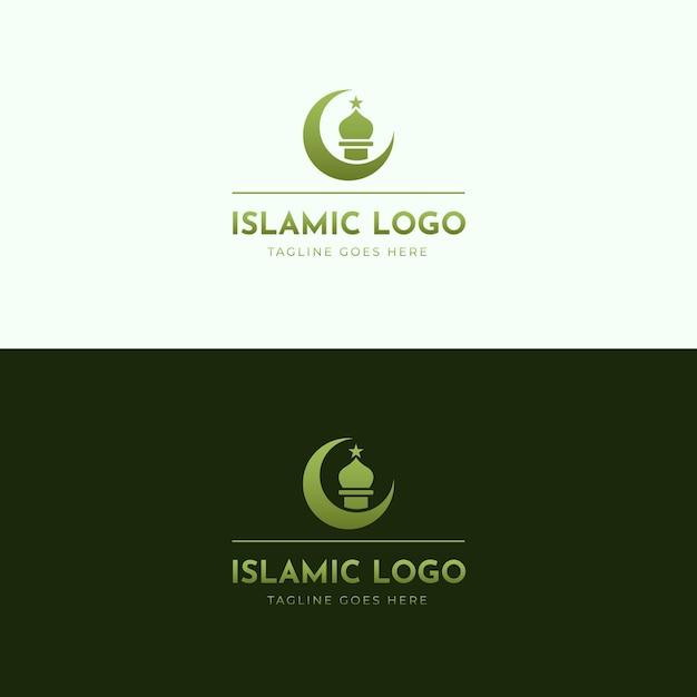 Исламская тема логотипа Бесплатные векторы