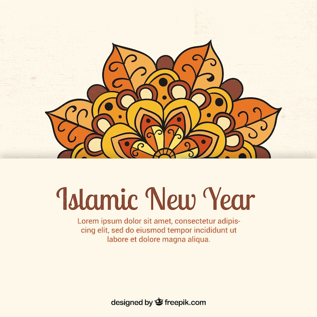 Islamic new year background with mandala
