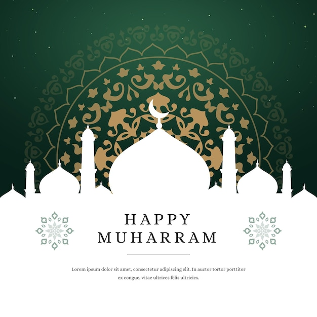 Islamic new year in paper style Free Vector