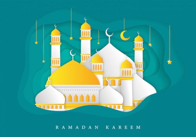 Islamic ramadan kareem background Premium Vector