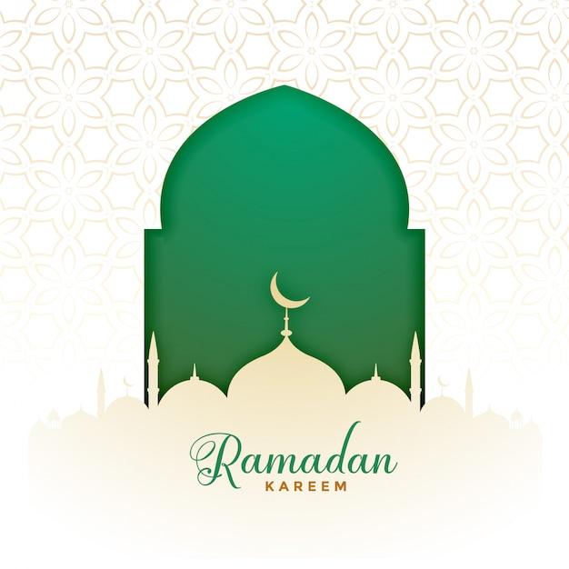 Islamic ramadan kareem muslim festival background Free Vector