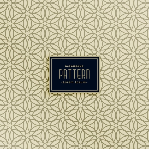 Islamic style line pattern background Free Vector