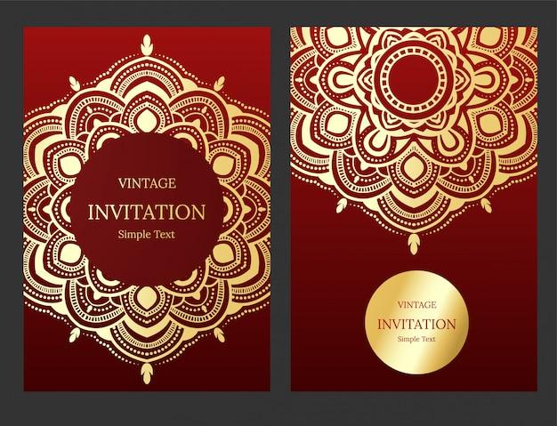 Islamic Wedding Invitation Or Card Vector Premium Download