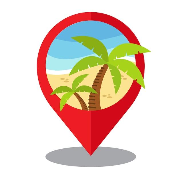 Island location design vector premium download for Location design
