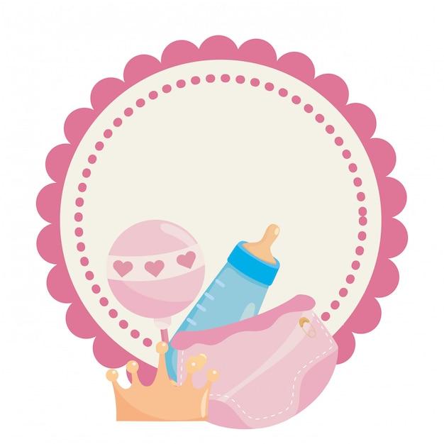 Isolated baby shower symbol Premium Vector