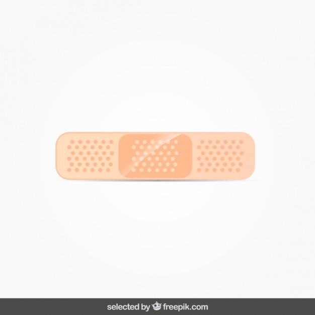 Isolated band aid Free Vector