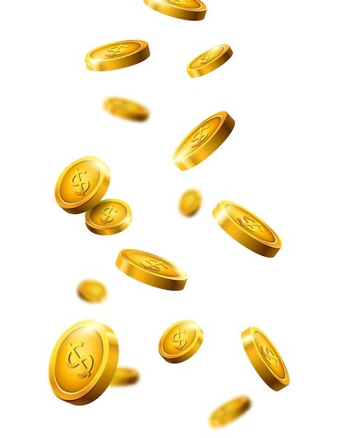 孤立した銀行通貨。 Premiumベクター