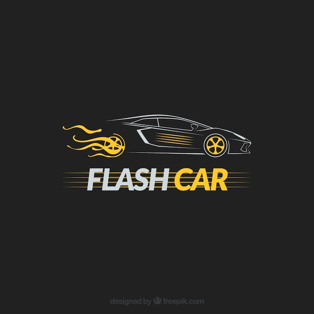 Isolated car logo Free Vector