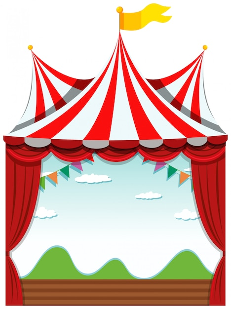 An isolated circus Free Vector
