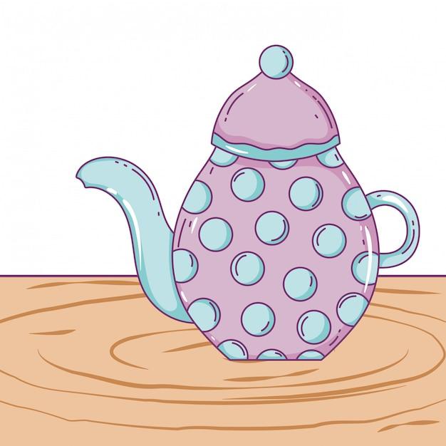 Isolated coffee pot Premium Vector