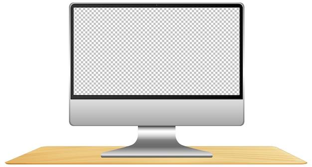 Изолированный компьютер с пустым экраном Бесплатные векторы