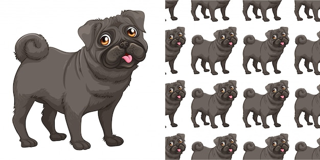 Isolated dog pattern cartoon Premium Vector
