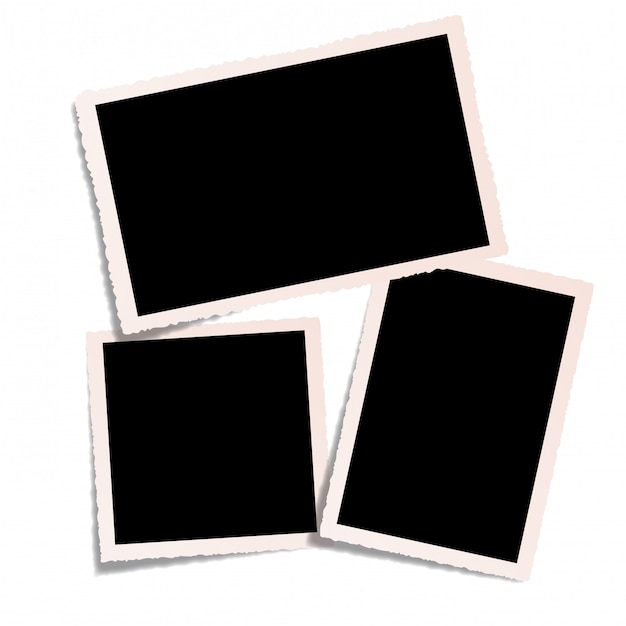 Isolated empty old pictures Premium Vector