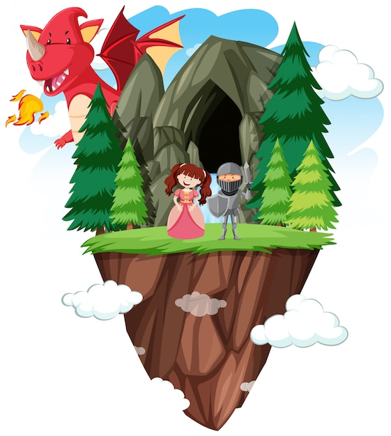 An isolated fantasy world Free Vector