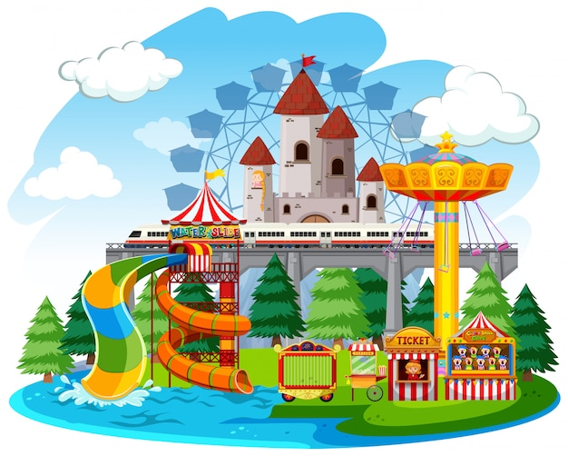 An isolated funfair remplate Free Vector
