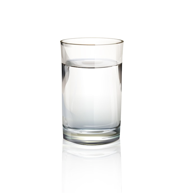 Isolated glass of water Free Vector