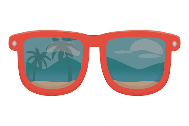 Isolated glasses Premium Vector