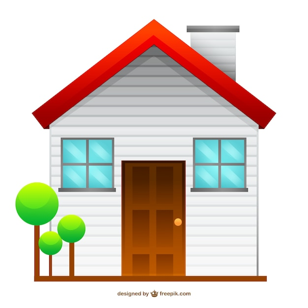 Isolated House Drawing Vector Free Download