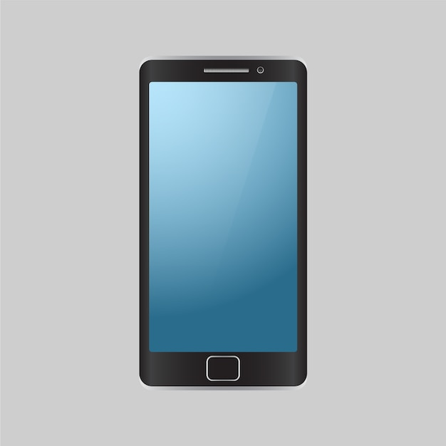 Isolated mobile phone background Free Vector