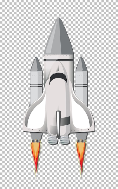 Isolated rocket on transparent Free Vector
