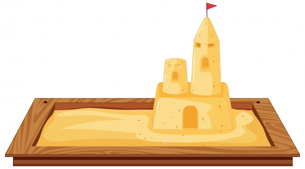 Isolated sandpit on white background Free Vector