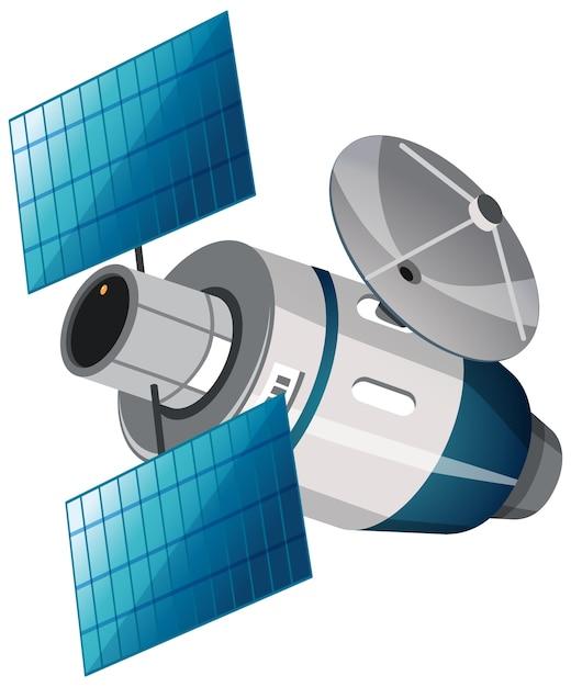 白の孤立した衛星 無料ベクター