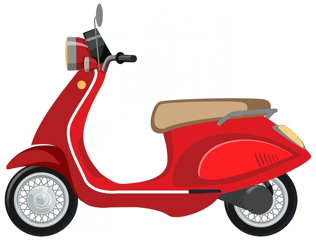 Isolated scooter cartoon on white background Free Vector