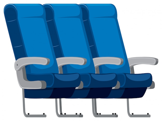 Isolated set of airplane seat Free Vector