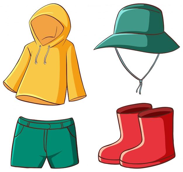 Set di vestiti isolato Vettore gratuito