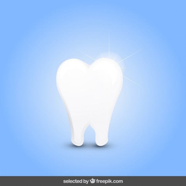 Isolated shiny tooth Free Vector