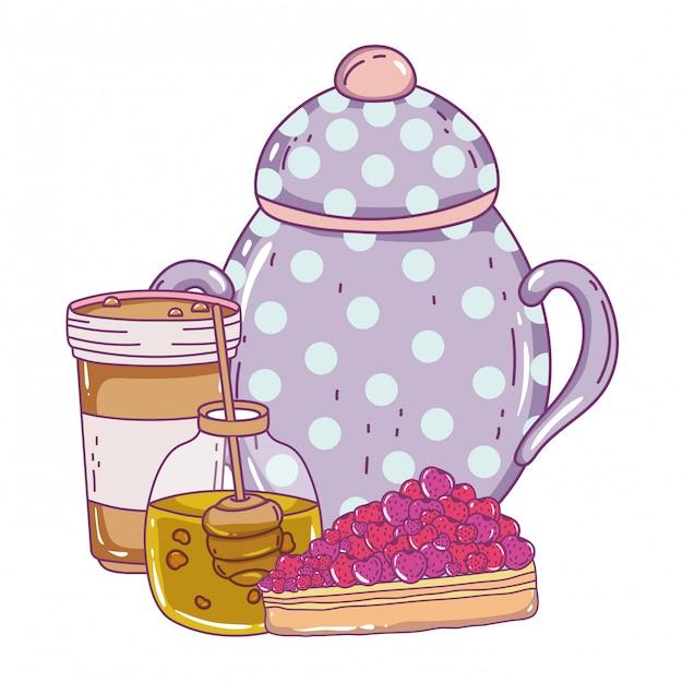 Isolated sugar bowl Premium Vector